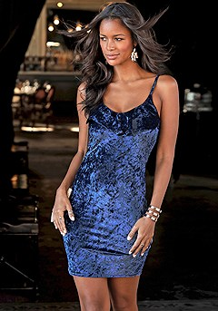 Velvet Bodycon Dress product image (F01001.NV.3.K)