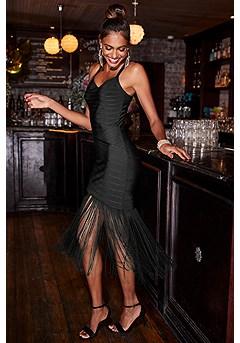 Bandage Fringe Dress product image (F01016.BK.1-S)