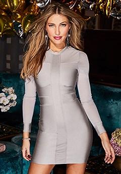 Mesh Detail Bandage Dress product image (F01018.NEW-S)