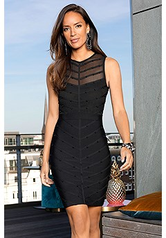 Sleeveless Mesh Bodycon Dress product image (F01023BK_1.1)