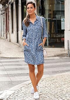 Denim Shirt Dress product image (F01032DE_1)