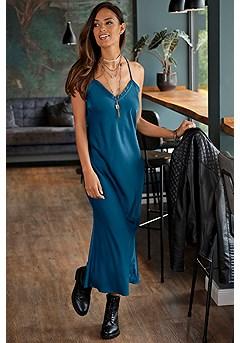 Satin Slip Maxi Dress product image (F01037TEAL_FV)