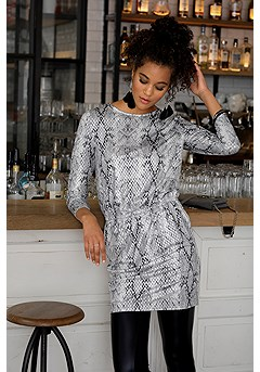 Foil Snake Print Dress product image (F01038ANPR_1)