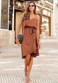 Satin Tie Waist Dress product image (F01044.POWD_I)