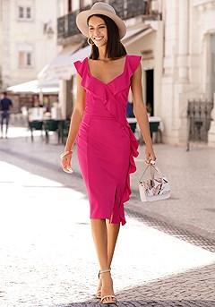 Ruffle Detail Dress product image (F01047.FS_I)