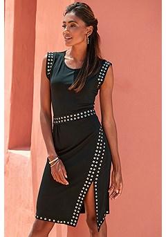 Rivet Detail Dress product image (F01072BK_1)