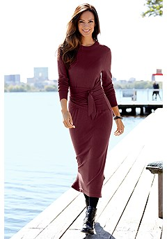 Tie Belt Sweater Dress product image (F02010BKBY_1)
