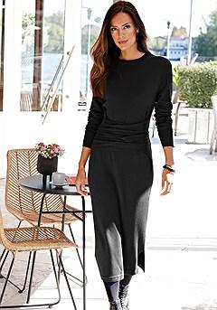 Tie Belt Sweater Dress product image (F02010BK_FV_RECOLOR_M)