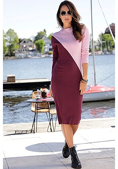 Mock Neck Knit Dress product image (F02011ABRS_FV)