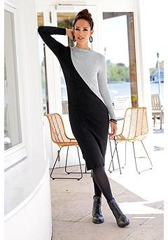 Mock Neck Knit Dress product image (F02011GYMU_1)