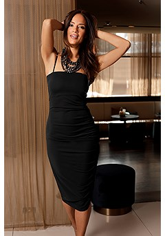 Slip Ruched Bodycon Dress product image (F02012BK_1)