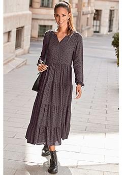 Long Sleeve Maxi Dress product image (F02013-LEBK_1)