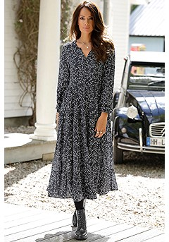 Long Sleeve Maxi Dress product image (F02013BKCR)