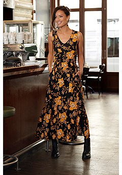 Floral Maxi Dress product image (F02014BKYL_1)