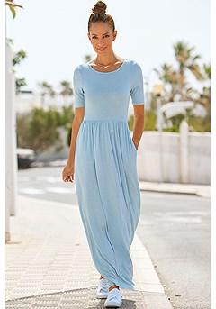 Scoop Neck Maxi Dress product image (F02015BLGY_1)