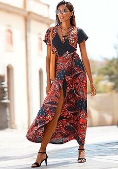 Paisley Wrap Maxi Dress product image (F02019.RDNV_1)