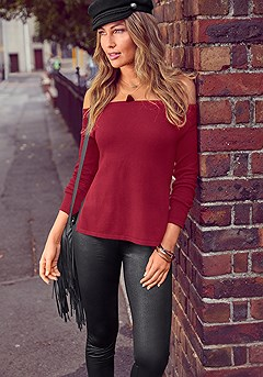 Off Shoulder Sweater product image (F03008WI_F09001-S)