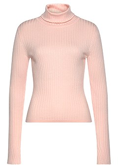 Ribbed Turtleneck Sweater, Corduroy Button Up Skirt product image (F03009_RS_ (1))