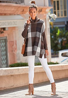 Checked Oversized Sweater product image (F03034BRMU_1)