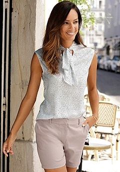Tie Neck Blouse product image (F04016WHDT_.F11001RS.1)