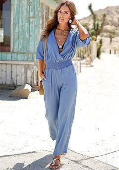 Kimono Sleeve Jumpsuit product image (F06001DE-2S)