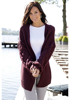 Oversized Knit Cardigan product image (F07007BKBY_FV-2)