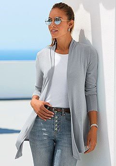 Basic Long Sleeve Cardigan product image (F07014.GYMO_1)