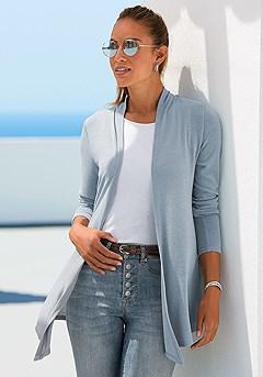 Basic Long Sleeve Cardigan product image (F07014.GYMO_1K)