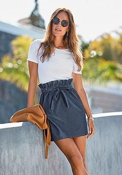 Denim Mini Skirt product image (F08006DE_1)