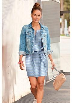 Tie Neckline Dress product image (F10005-DE_X29017-BLWH)