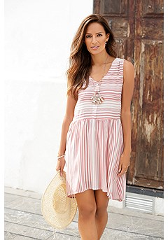 Stripe Mix Tank Dress product image (RS_X29454MSTR)
