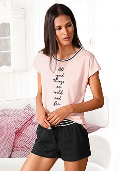 Good Things Short Pajama Set product image (RS_X40040BKRS)