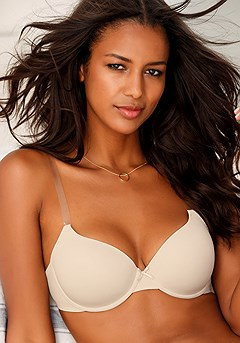 Clear Strap Padded Underwire T-Shirt Bra product image (X03003_1)