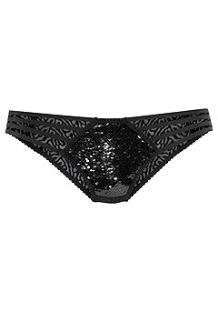Strappy Reversible Sequin Panty product image (X05070-BKSL-01)