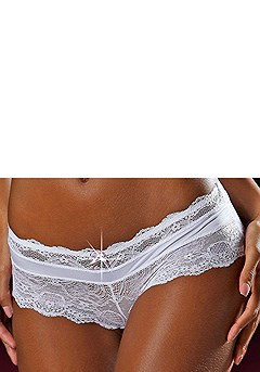 Lace Hipster Panty product image (X07003-WH_02)