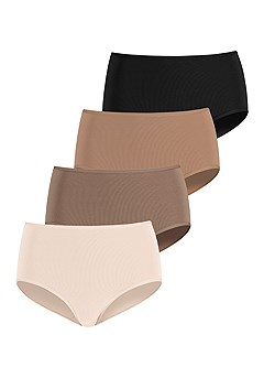 4 Pk Midrise Hipster Panties product image (X07072MU_1)