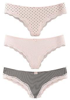 3 Pk Comfy Cheeky Panties product image (X08005-RSMO_01)