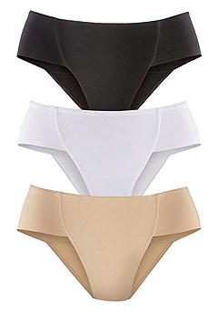 3 Pk High Leg Control Briefs product image (X12002-TABW_01)