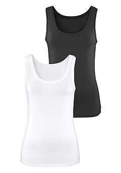 2 Pk Basic Tank Tops product image (X14004BKWH_00)