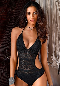 Cut Out Crochet Monokini product image (X15034BK_00)
