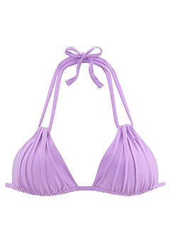 Strappy Triangle Bikini Top, Strappy Classic Bikini Bottom product image (X16017LI_1)