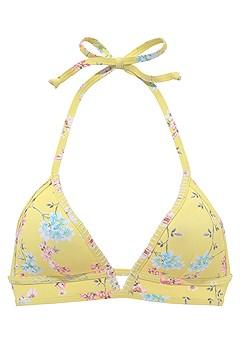 Plunge Triangle Bikini Top, Side Straps Bikini Bottom product image (X16058-YLMU-02)