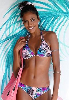 Palm Print Triangle Bikini Top product image (X16075-RSMU-00)