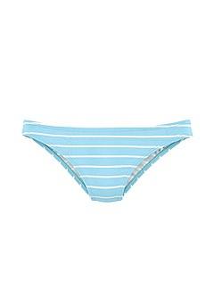 Lace Up Triangle Bikini Top, Striped Classic Bikini Bottom product image (X16166BLWH_X28334BLWH_3)