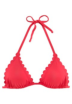 Scalloped Triangle Bikini Top product image (X16170RD_2)