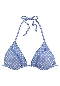 Gingham Triangle Bikini Top, Loop Classic Bikini Bottom product image (X16176WHBL_2)