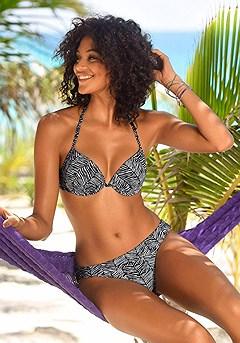 Zebra Print Push-Up Bikini, Zebra Print Bikini Bottom product image (X20017BKWH_X28058BKWH_00)
