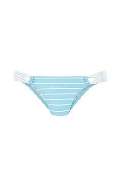 Striped Push Up Bikini Top, Strappy Classic Bikini Bottom product image (X20108BLWH_X28335BLWH_3)
