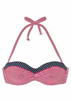 Multi Print Bandeau Bikini Top, Mix Print Bikini Bottom product image (X22040RDWH_X28072RDWH_01)