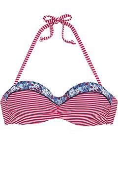 Printed Bandeau Bikini Top, Printed Bikini Bottom product image (X22054.RDST.0002s)